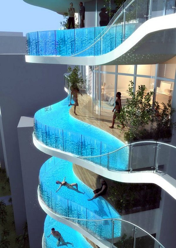 Swimming Pools On Hotel Room Balconies Things Could Be Worse