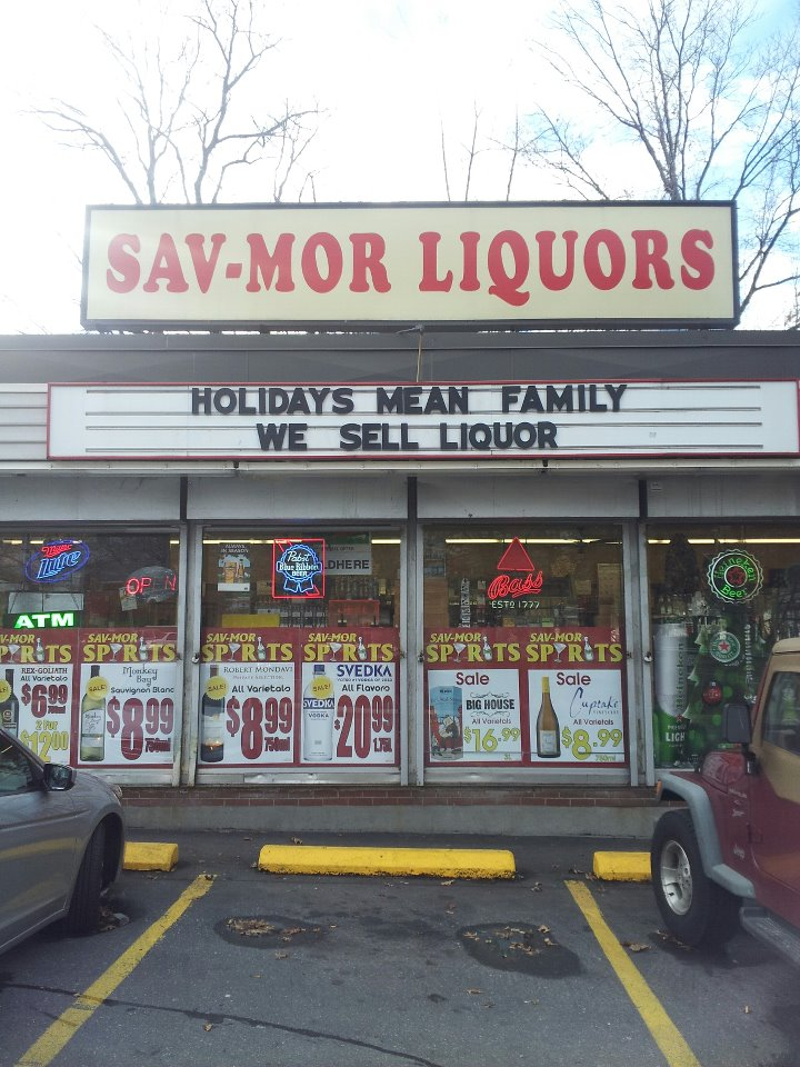 Ouch! Liquor store advertises: Holidays mean family, we sell liquor
