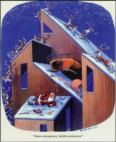 Santa hates contemporary architecture