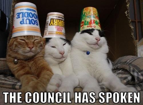The council has spoken