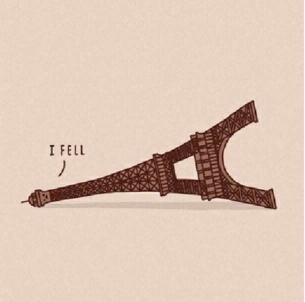 I fell...