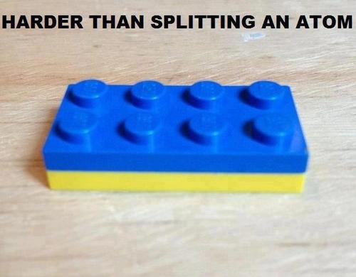 Harder than splitting atom