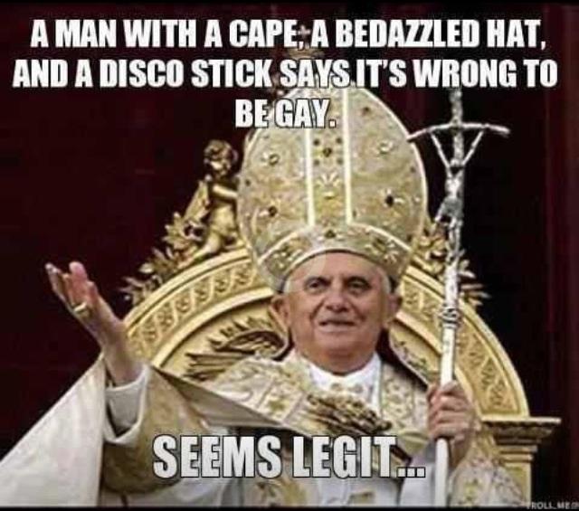 Scumbag pope
