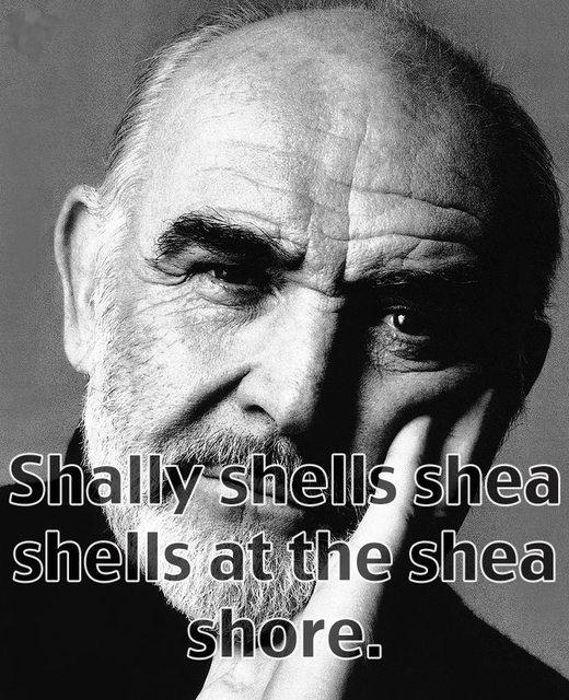 "Sean has a hard time reciting the ""sally sells seashells by the seashore"" tongue twister"