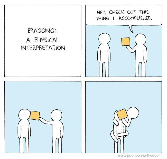 Bragging: A physical interpretation funny pics