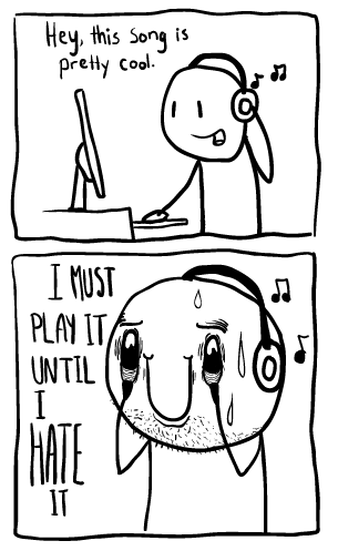 This pretty accurately depicts my relationship with new music