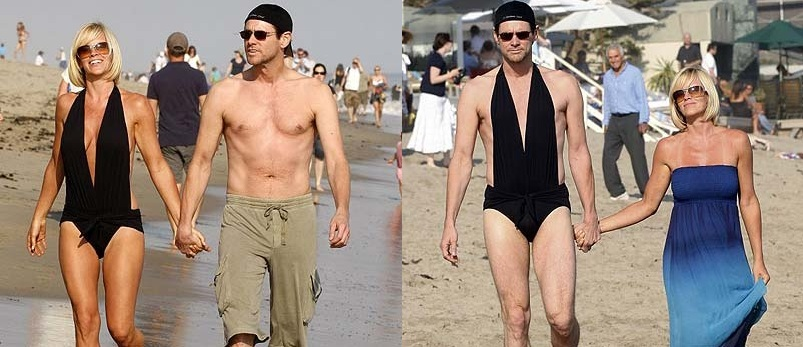 Jim Carrey likes to have a little fun at the beach