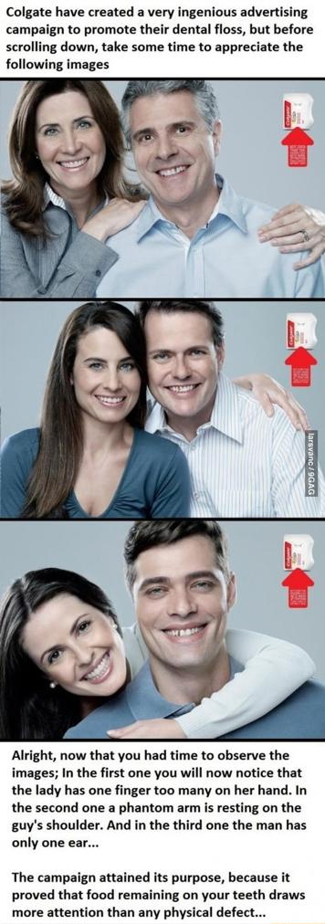Clever colgate ad