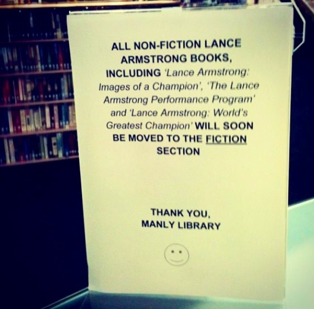 How libraries deal with the Lance Armstrong confession