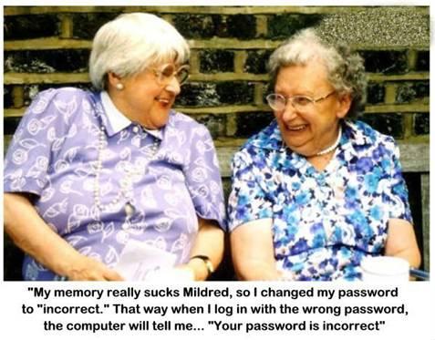 Senior citizens passwork trick
