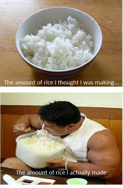 The problem with rice...