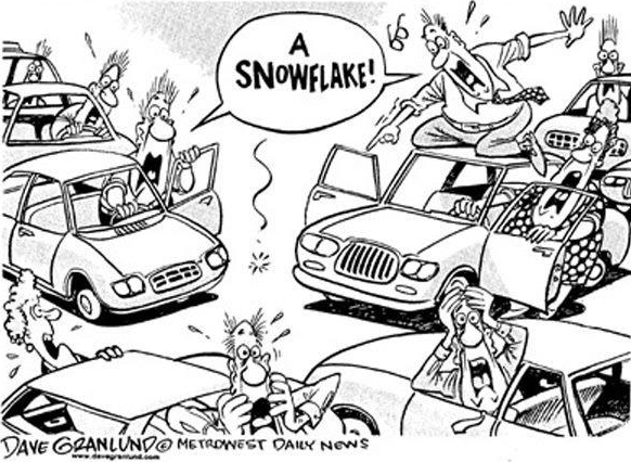 Snow starts falling, traffic starts panicking | Funny ...