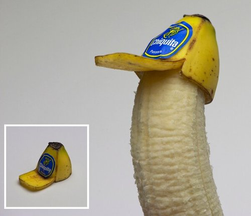 Creative banana peel hat