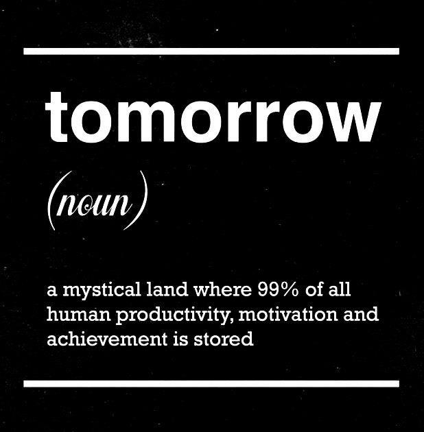 Definition of tomorrow
