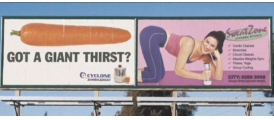 Hilarious ad placement
