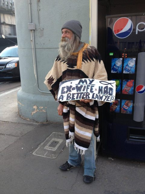 Funniest comedic homeless people sign