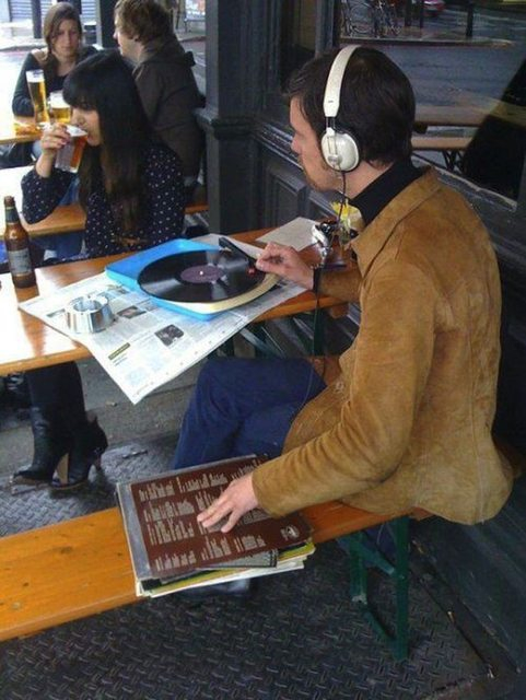 This takes hipster to a whole new level...
