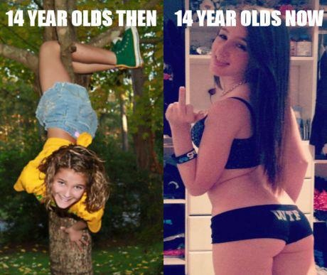 14 year olds then vs. 14 year olds now