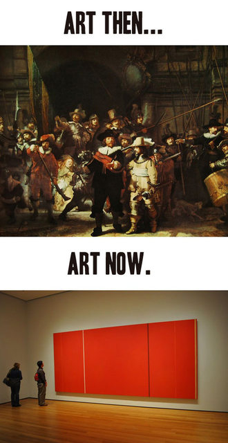 Art then vs. art now