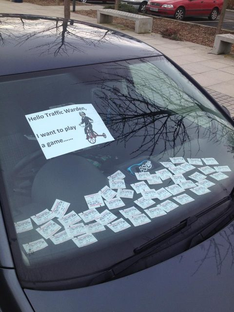 How to ruin a traffic warden's day