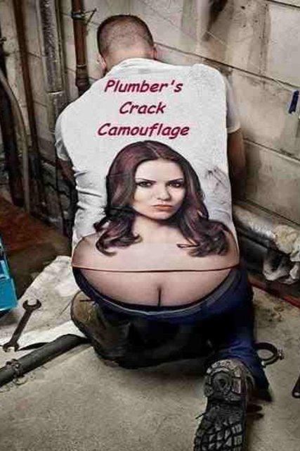 Girl plumber crack
