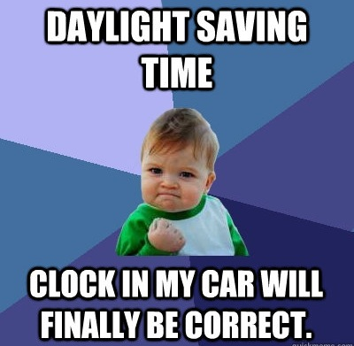 Daylight saving time - clock in my car will finally be correct