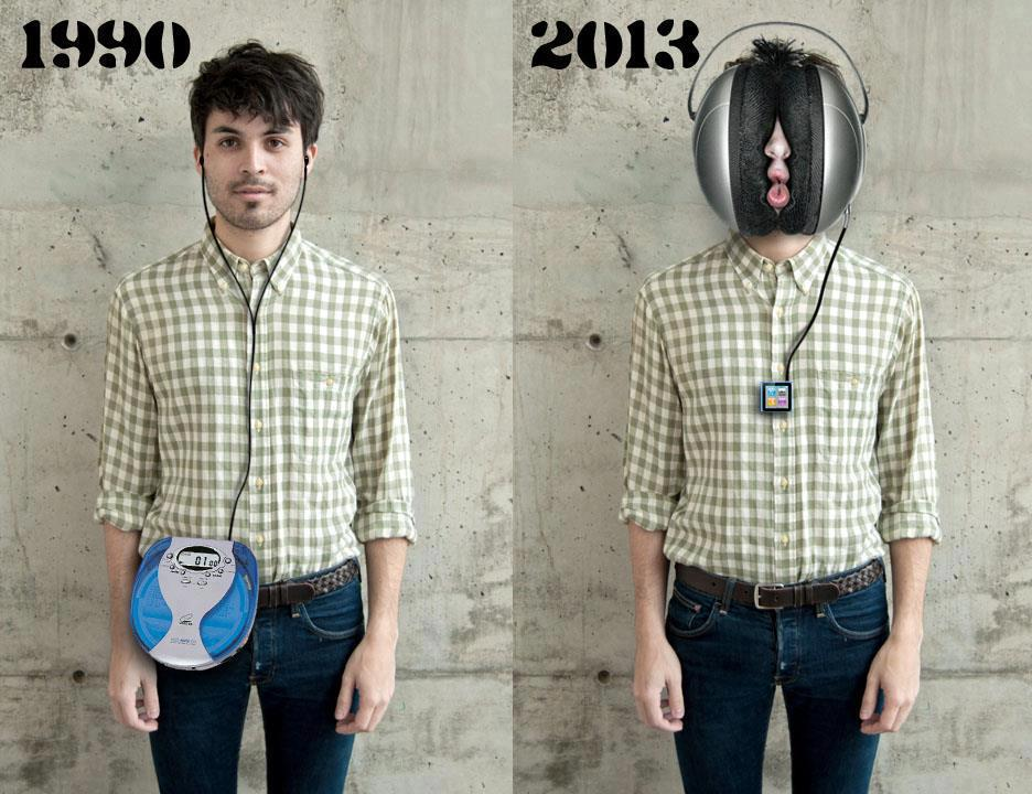 Headphones in 1990 vs. headphones now