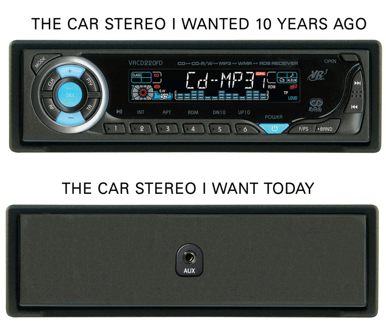 Change of car stereo preference