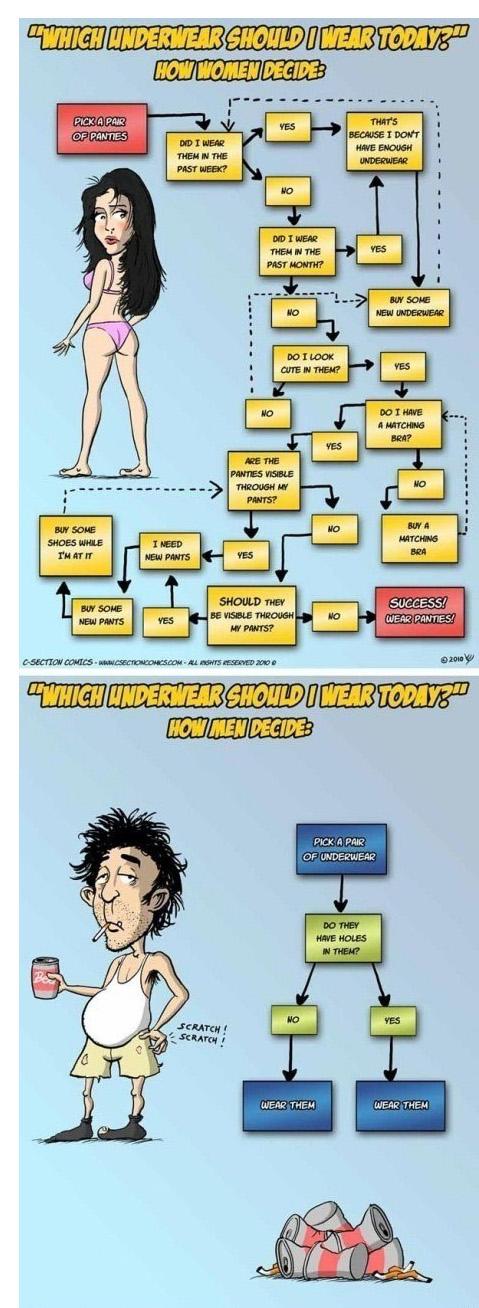 Underwear - Men vs Women