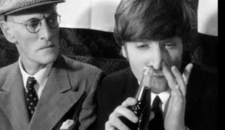John Lennon sniffing coke