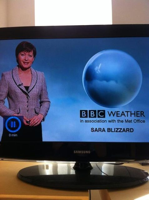 Watch out for this weather woman!