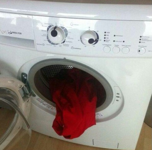 Drunk washing machine