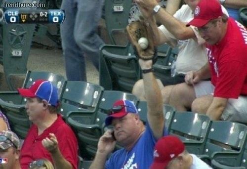 Yeah, I'm at a baseball game