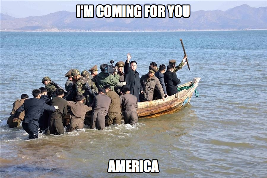 North-Korea has just sent out their fleet to attack America. Be afraid...