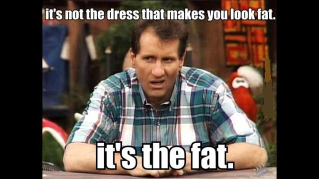 Does this dress make me look fat? Ed O'Neill knows the answer