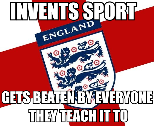 Invents sport. Gets beaten by everyone they teach it to