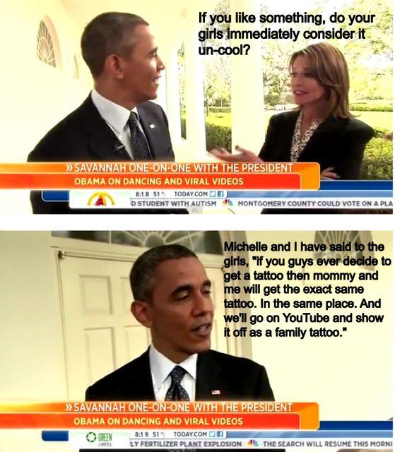 Obama parenting win