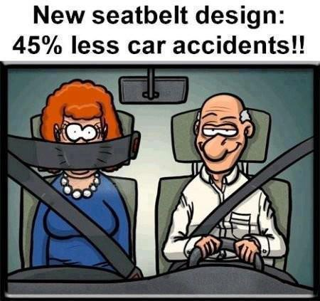 New seatbelt design: 45% less car accidents