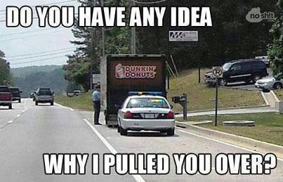 """Do you have any idea why I pulled you over?"""