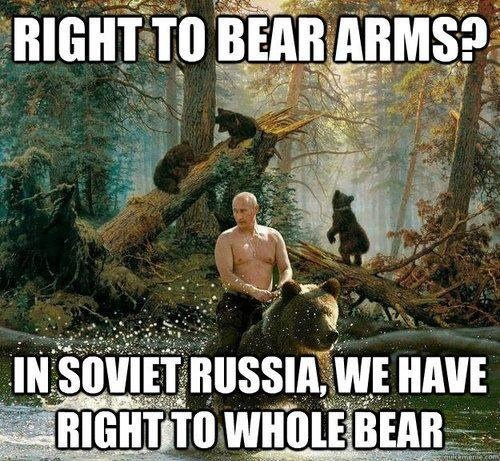 Right to bear arms? In Russia...