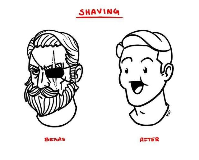 Shaving, this is how I feel every time...