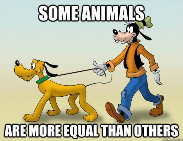 All animals are equal, but...