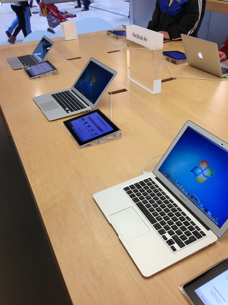 Trolling the Apple store