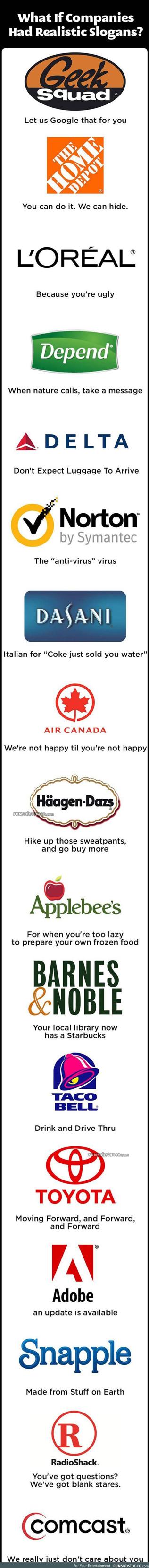 If companies had realistic slogans