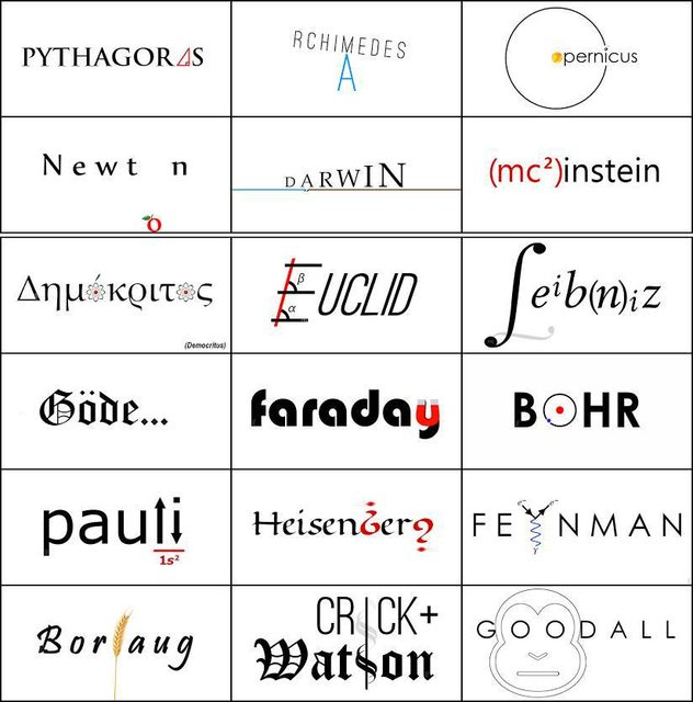 If great scientists had logos...