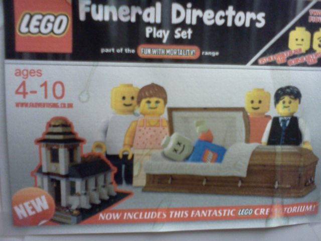 New, the LEGO Funeral Directors play set