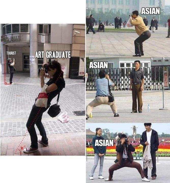 How to pose when you're the photographer - Asian style