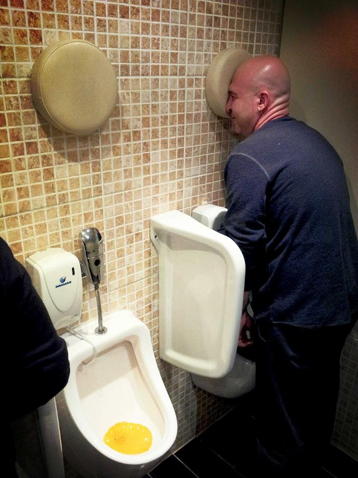 Urinals for drunk men