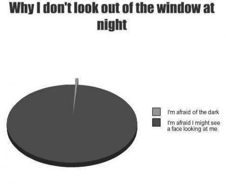 Why I don't look out the window at night