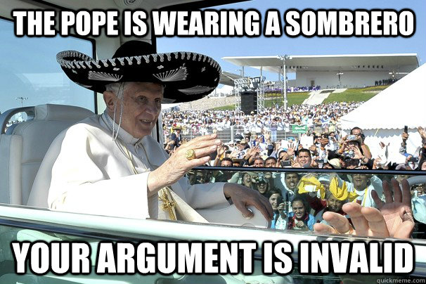 When the pope puts on a sombrero...